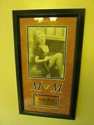 Collectable Vintage Framed Marilyn Monroe Wall Print Art Piece Of Silk Stocking