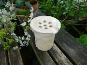 19th Century French Stoneware Sink Waste For Plug Hole, Antique Shower Waste