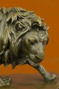 French 100 Solid Bronze Lion Statue Casting Cats Lions Animal Sculptures Sale