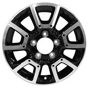 75157 Factory, Oem 18x8 Alloy Wheel Black With A Machined
