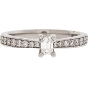 New And Genuine - Platinum 0.50ct Diamond Ring - Size I - Rrp Andpound3299.99