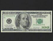 2003 A 100 One Hundred Dollar Federal Reserve Note Ultra Low Serial Number Rare