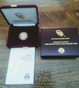 2021 American Eagle 0ne - Tenth 0unce Gold Proof Coin Only Mintage 16,200