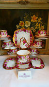 Royal Albert Crown China And039old English Roseand039 21 X Piece Tea Service - 1st Quality