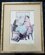 Vintage Norman Rockwell Print - Plate Signed Fine Art Reproduction