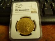 1855-s Liberty Double Eagle Type 1 20 Gold Coinngc Graded Au Details Cleaned