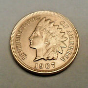 1907 P Indian Head Cent Penny Good Or Better Free Shipping