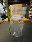 Vintage Koezes Glass Canister - Apothecary - Candy Jar Storage Container