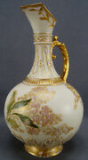 Bawo And Dotter Limoges Hand Painted Signed Aesthetic Floral Gold Blush Ivory Ewer