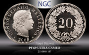 2008b Switzerland 20 Rappen Ngc Pf 69 Ultra Cameo Finest Known