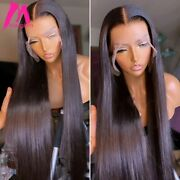 Straight Lace Frontal Human Hair Wig Brazilian Natural Hd Glueless Transparent