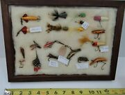 Framed Collection Of Vintage Fly Fishing Lures
