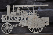 Antique Russell Steam Tractor Farm Machine New Wood Toy Puzzle 16 Parts Usa