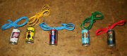 Rare 5 Lot 1970s Mini Beer Can Necklaces Vending Schlitz Coors Pabst Lowenbrau +