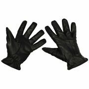 Mfh Gloves For Men Leather Work Motorcycle Protection Resistant Black Size Xxl