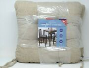 Whitley Willows Reversible 2 Pack Plush Chenille Chair Pads Cushions