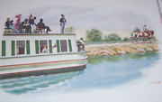Work Begins On The Erie Canal Barge Buffalo Albany Waterways 1967 5 Cent Stamp