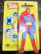 Vintage Wgsh Superman Mego 1979 New On Repaired Card