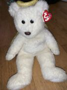 Rare Halo Ii Angel Bear W/ Brown Nose. Ty Beanie Baby January 14, 2000 With Tags