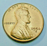 1954 S Lincoln Wheat Cent / Penny Very Fine Or Better Free Shipping