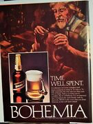 Bohemia Fine Imported Beer / Systems Wharehouse Stereo Stores Vtg 1979 Ad,