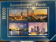 18000 Pieces Jigsaw Puzzle Ravensburger Skylines Of The World Sealed Bags