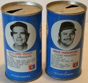 Lot 2 1977 Texas Rangers Rc Cola Cans Gaylord Perry And Mike Hargrove Mlb