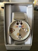 Disney Parks Collection Jewelry Mickey Mouse Silver Mesh Metal Band Watch Oh Boy