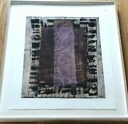 Stephanie Weber Painting Mixed Media On Paper Framed Matted Signed By Artist