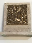 Milton Horn Adam And Eve Sculpture On Marble Stand 5.75 X 5.75 Bronze