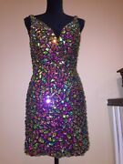 Versace Wedding Evening Cocktail Runway Crystals Couture Gown Dress Nw