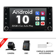 Carplay+obd+cam+7inch Car Stereo Radio Gps Navi Mp5 Player For Toyota Android 10