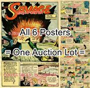 Doc Savage 1946 Stolen Seismograph = 6 Posters Comic Book 8 Sizes 19 - 3 Feet
