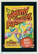 Wormy Packages 1982 Stinky Album Stickers = Poster Wacky Pack 8 Sizes 17-41
