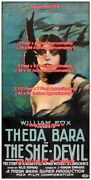 She-devil 1918 Theda Bara = Poster 3 Sizes 4 / 6 / 7 Feet === Buy 2 Get 1 Free