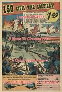 150 Civil War Soldiers 1969 Toy Josely Co .= Poster Comic Book 8 Sizes 18-3 Ft