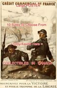 Wwi 1918 French 4th National Defense Loan Soldiers =poster 10 Sizes 18-4.5 Feet