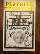 The Singing Forest Playbill Signed Cast The Public Theater Olympia Dukakis 2009