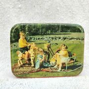 1950 Vintage Mobo Horse Rocking Swing Kids Graphics James Lord Confectionery Tin