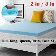 Cool Gel Memory Foam Mattress Topper Bed Pad 2and039and039/3and039and039 Queen King Twinxl Full Size
