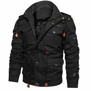 Men's Winter Jackets And Coats Fleece Warm Hooded Thermal Thicker Outerwear Male