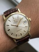 Omega Seamaster Automatic Date Quickset Function Vintage Mens Gf Cal 500 Series