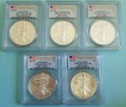 2011 Silver Eagle Anniversary Set Five Coins Ms/pr 70and039s