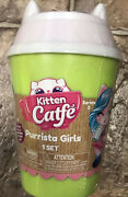 Series 2 Kitten Catfe Purrista Girls Mystery Pack Cafe Doll In Hand Green New
