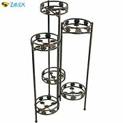 Sunnydaze 6 Tiered Plant Stand - Indoor Or Outdoor Plant Holder With Sturdy Meta