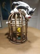 Rare Vintage 1964 Warner Bros Sylvester And Tweety In Bamboo Bird Cage-see Details