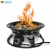 Outland Firebowl 863 Cypress Outdoor Portable Propane Gas Fire Pit With Cover And