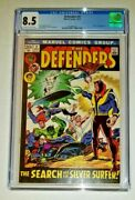Defenders 2 - Cgc 8.5 Vf+ Ow/white Pages Marvel Comics 1972