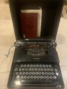 Antique 1934 Lc Smith And Corona 1s Silent Typewriter W/ Case And Manual - Black