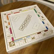 Rare Hasbro Monopoly White And Gold Luxe Limted Edition Wood Board Game New